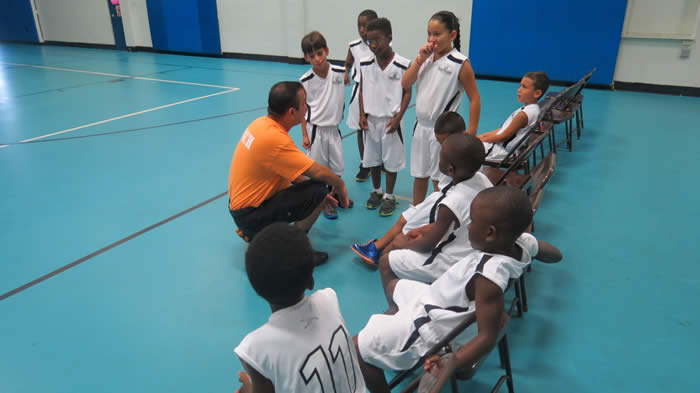 Coach Talks to the Children