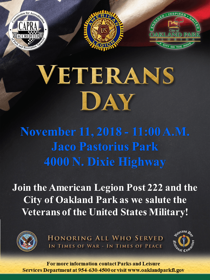 Flyer Veterans Day - Nov 2018 - EN