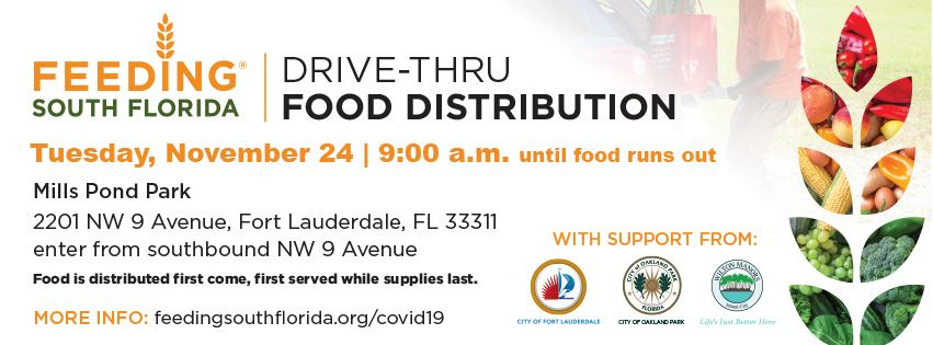 11-24 COVID-19 Mills Pond Park Food Distribution_Facebook cover